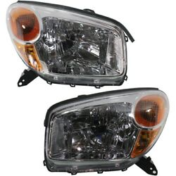 Headlight Set For 2004-2005 Toyota Rav4 Left And Right With Socket And Wiring