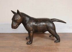 Bronze English Bull Terrier Statue Lifesize