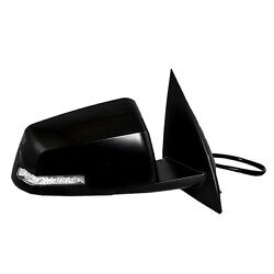 Black Power Heated Side View Mirror Rh / For 09-14 Chevrolet Traverse 2031933