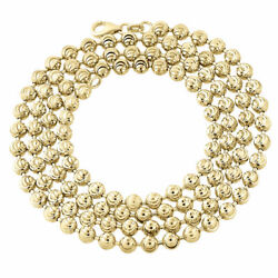 10k Yellow Gold Moon Cut Style Link New Solid Chain Necklace 4mm 24 - 40