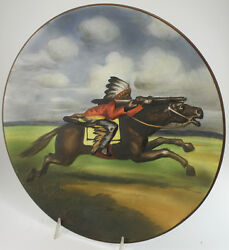 Antique Nippon Indian Plaque Plate Or Platter Blown Out Style