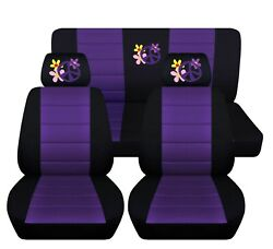 Flower Power Seat Covers Fit 2005 To 2010 Volkswagen Beetle 12 Color Options
