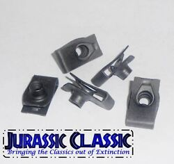 1946-1980 Ford 5pk 10-24 Extruded Fender U-nuts Clips Hood Body Panel Glovebox