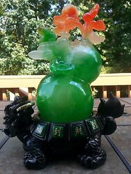 15h Chinese Dragon Turtle With Money Frog Beast Gourd Cucurbit Calabash Statue