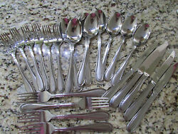 Cambridge Cordial Stainless Silverware Flatware Set Forks Spoons 23 Pce