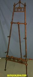 Antique Oak Easel Self Standing Floor Model Artist Display Stick And Ball Style