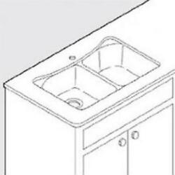 Moen Undermount Service Kit For 25200 Sink With Template Clips 100509b New