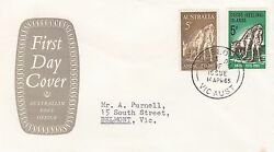 Stamp Cocos Island 5d Anzac And Australian 5d Issue On P.o Grey Emblem Cachet Fdc