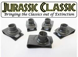 46-80 Chevy Amc 5pk 5/16-18 Extruded Fender U-nuts Clips Hood Body Trunk Panel