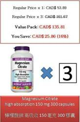 300 C Magnesium Citrate High Absorption 150 Mg - Webber Naturals