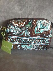VERA BRADLEY JAVA BLUE SMALL COSMETIC BAG - BRAND NEW WITH TAGS