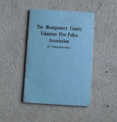 Vintage 1930 Booklet Montgomery County Volunteer Fire Police Assoc Of Pa