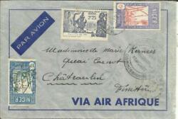 Niger Sc34,88,36-niamey 26/oct/39-french Censorniamey Air Mail To France