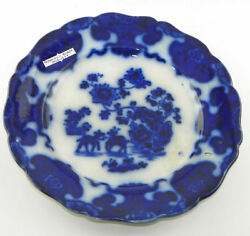 Flow Blue Plate Cashmere By Riddgway And Morley 1842-1844