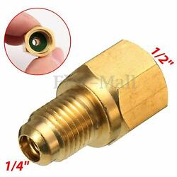 R134a Refrigerant Tank Adapter 12'' ACME Female x 14'' Male Flare Fitting
