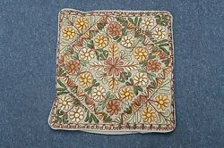 Vintage Antique Hand Embroidered Pillow Cover 14 X 15 European Arts And Crafts
