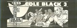 Cole Black Comics Vol. 1 #3 the 3rd issue from 1981 Rocky Hartberg $1.25