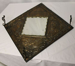 Antique Mirror Hat Rack George Washington Abraham Lincoln And Capital Embossed