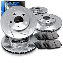Full Kit eLine Slotted Brake Rotors & Semi Met Brake Pads CES.42129.03