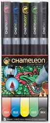 CHAMELEON COLOR TONES MARKERS - 5 SET - PRIMARY TONES