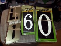 382 Pcs House Numbers And Letters 3-1/2 Self Stick And Reflective 6-1/2 Aluminum