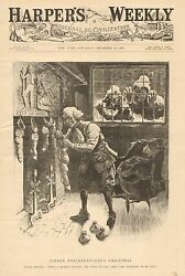 Political Cartoon, Father Knickerbaker's Xmas, By Wa Rogers, Vintage 1896 Print