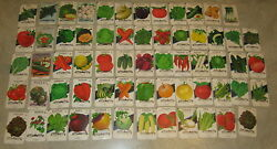 Lot Of 63 Old Vintage 1960and039s-70and039s - Vegetable Seed Packets - Lone Star - Empty