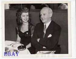 Shirley Temple Walter Winchell Stork Club Vintage Photo Candid 1944