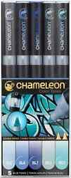 CHAMELEON COLOR TONES MARKERS - 5 SET - BLUE TONES