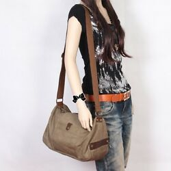 Retro Women#x27;s Shoulder Bag Satchel Cross body Bag Messenger Canvas Travel Totes $24.33