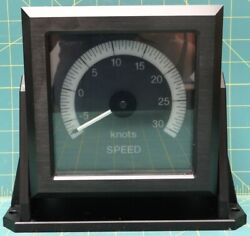 Sperry Marine Ans244-30-bw Speed Indicator -5 To 30 Knots Ans244-30-c