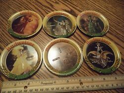 Lot Of 6 Metal Beer Coasters Anheuser-busch Brewing Co St Louis Hard To Find