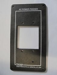 Ac Power Feed  Panel Boat  6 3/4 X 3 1/2  Alluminum 2 1/4 X 2 1/8 Cut Out