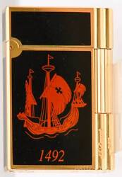 St.dupont Colombus Gatsby Lighter Limited Edition Bnib Hard To Find Never Fired