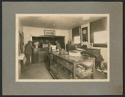 1910 Auto Parts Store, Rare Vintage Cabinet Photo Store Displays And Ads