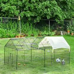 Outdoor 87 Large Dog Kennel Crate Pet Enclosure Playpen Run Cage House W/cover