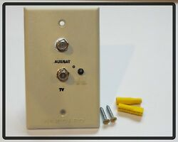Rv Winegard Tv-satellite Power Jack Cable Receptacle Ivory Camper Rv-0751 On/off