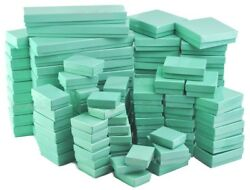 Teal Gift Boxes Glossy Teal Cotton Filled Jewelry Box For Jewelry 2050100500