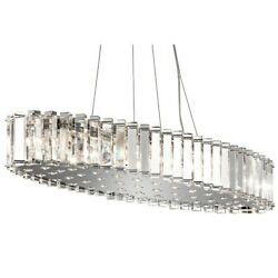 Kichler Crystal Skye Oval ChandelierPendant 12Lt Chrome Crystal - 42173CH
