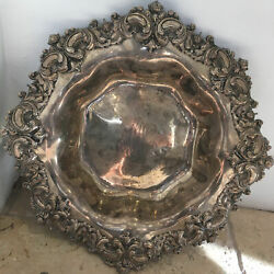 Large Antique Art Nouveau Sterling Silver Bowl By A Stowell And Co.