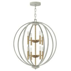 Hinkley 8 Light Euclid Two Tier, Cement Gray - 3468cg
