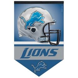 Detroit Lions Large Premium 17x26 Roll And Go Felt Banner Pennant New