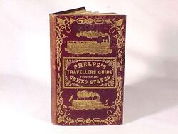 1848 Phelpsand039s Travellers Pocket Guide Of United States With Map