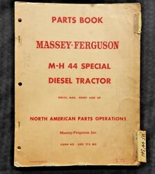 1952-61 Massey Harris M-h 44 Special Diesel Tractor Parts Catalog Manual Good 1