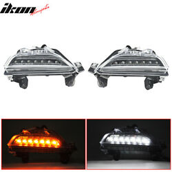For 14-16 Mazda 3 LED DRL Front Signal Lights With Switchback Function
