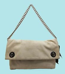 MARC JACOBS Clutch Hold Tight Chain Tumbleweed Beige Shoulder Bag Msrp $328.00 $95.43