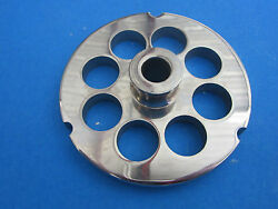 32 X 3/4 Meat Grinder Plate W/ Hub Stainless Fits Hobart Tor-rey Lem And More