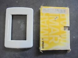 Ocean Yacht Vimar Idea 16753.01 Marine Boat Metal WHITE Light Switch Cover Plate