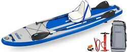 Sea Eagle Longboard Lb11 Deluxe Package Inflatable 11ft Sup -2 Paddles Seat More