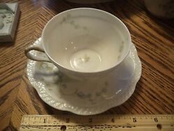Vintage Theodore Haviland Limoges France - Scalloped, Cup And Saucer Bone China